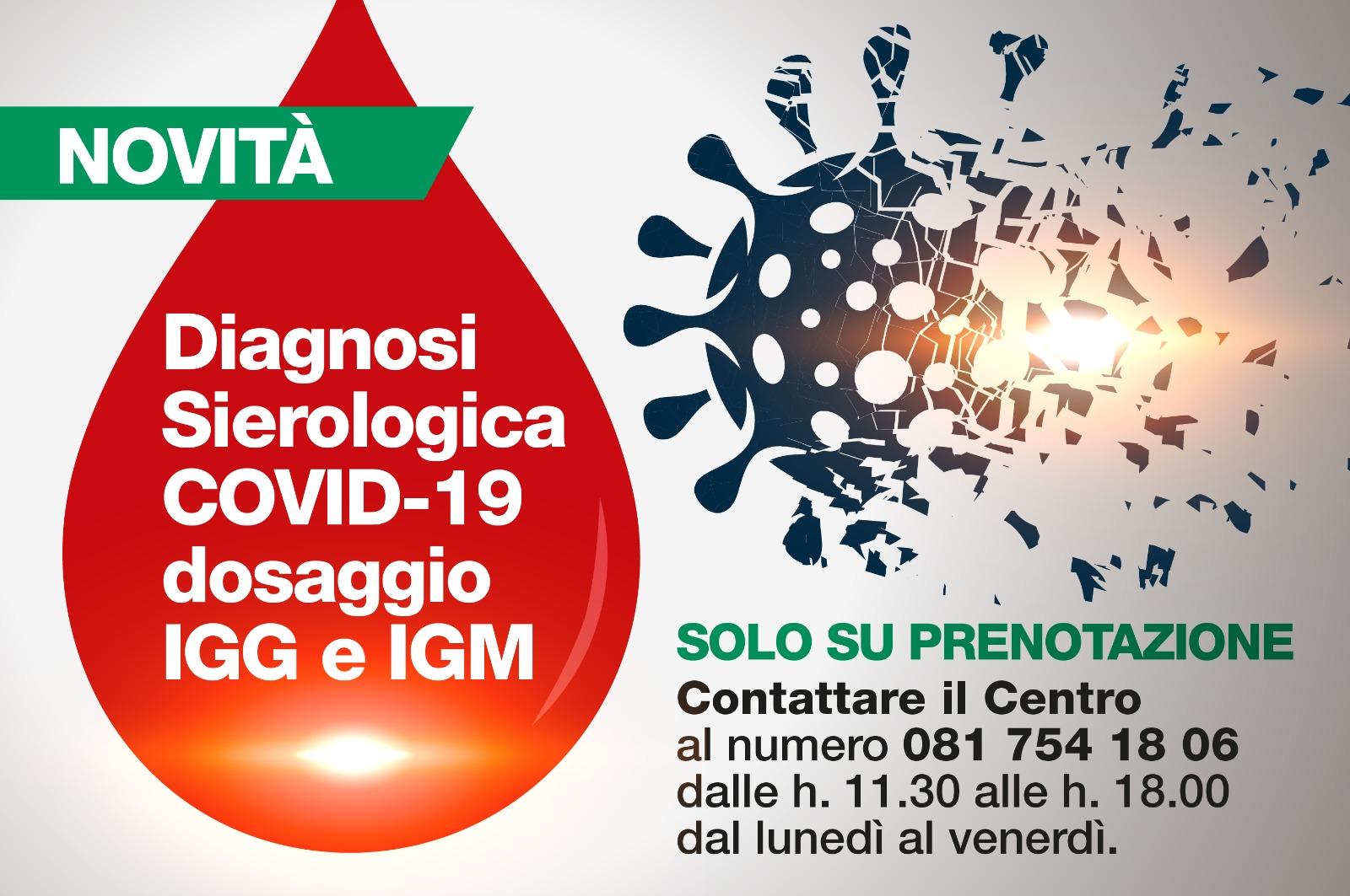 Diagnosi Sierologica  Covid-19 dosaggio IGG e IGM